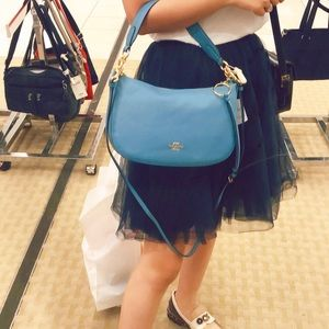 Coach crossbody in pebble leather